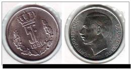 Luxembourg, Jean, 5 Francs, 1981, SPL, Copper-nickel - Luxembourg