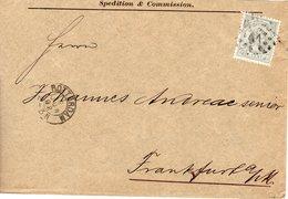9 JUN 92  Envelop Met NVPH 38 Van Rotterdam Naar Frankfurt - Periode 1891-1948 (Wilhelmina)