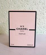 """Miniature """"N° 5"""" De CHANEL   Parfum  1,5 Ml Dans Sa Boite - Miniatures Modernes (à Partir De 1961)"""