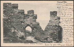 Castle Walls, Tintagel, Cornwall, 1902 - Valentine's U/B Postcard - England
