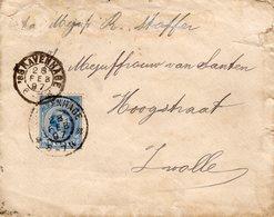 28 FEB 97  Envelopje  Van 's_Gravenhage Naar Zwolle Gr.rond En Kl. Rond - Periode 1891-1948 (Wilhelmina)