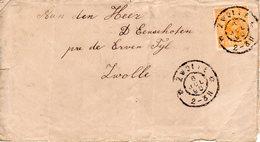 6 JUL 98 Lokaal Verzonden Envelopje Met NVPH 34   In Zwolle (vuil) - 1891-1948 (Wilhelmine)