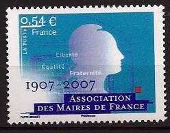 """FR YT 4077 """" Association Des Maires De France """" 2007 Neuf** - Francia"""