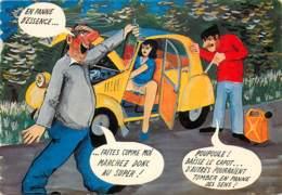 HUMORISTIQUE - LA PANNE D'ESSENCE EN 2CV - Humour