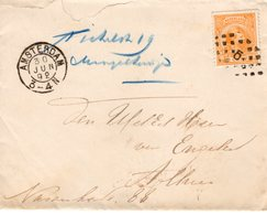 30 JUN 92 Lokaal Envelopje Amsterdam Met NVPH 34 - Periode 1891-1948 (Wilhelmina)