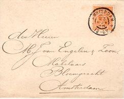 23 NOV 98 Lokaal Envelopje Amsterdam Met NVPH 34 - Periode 1891-1948 (Wilhelmina)
