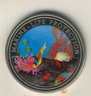 Rebublic Of Palau, 1 Dollar, Farbmünze,stgl.,1994, Marine-Life-Protection  (54011) - Palau