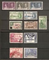 FIJI 1937 - 1951 COMMEMORATIVE AND SURCHARGE SETS FINE USED  Cat £24+ - Fiji (...-1970)