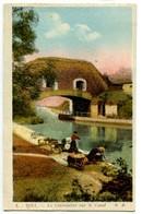 CPA 54 Meurthe Et Moselle Toul La Canonnière Sur Le Canal Animé Lavandières - Toul