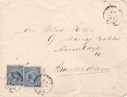 29 SEP 93  Envelop Met 2x NVPH 35 Met Kleinrond RENKUM Naar Amsterdam - Periode 1891-1948 (Wilhelmina)