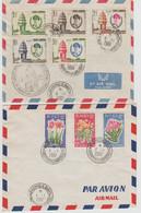 Cambodge, 2 Lettres Anniversaire De L'indépendance, 1961. - Cambodia