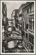 I Cinque Ponti Del Rio Dei Sospiri, Venezia, C.1940s - Brocca Foto Cartolina - Venezia (Venice)