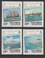 1984 Solomon Islands  Lloyds List Ships Container Port Set Of 4 MNH - Solomon Islands (1978-...)