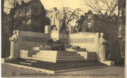 MOLENBEEK  ST JEAN  Monument érigé En L' Honneur De Ses Hèros De La Guerre 1914-1918. - St-Jans-Molenbeek - Molenbeek-St-Jean