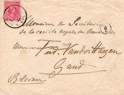 26 OCT 96   Envelop Met NVPH 37 Van Amsterdam Naar Gent - Periode 1891-1948 (Wilhelmina)