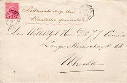 28 DEC 94  Dubbelgewichtsbrief Met Inhoud Met NVPH 37 Middelburg Naar Utrecht - Periode 1891-1948 (Wilhelmina)
