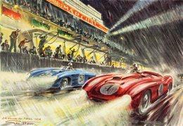 24 Heures Du Mans - 1954  - Artwork By Geo Ham -  CPR - Le Mans