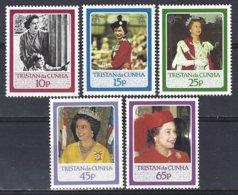 Tristan Da Cunha  Yv 384/88, 60e Anniversaire De S.M. Elisabeth II ** Mnh - Tristan Da Cunha