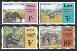 Kenya  Yv 348/51 Endangered Animals ** Mnh - Kenya (1963-...)