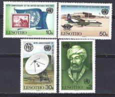 Lesotho Yv 647/50, Nations Unies ** Mnh - Lesotho (1966-...)