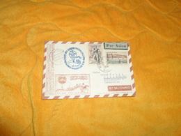 CARTE POSTALE DE 1956. / DEPART BESANCON POUR AUTRICHE. / MIT BALLONPOST JUNGFERNFAHRT DES OSTERR../ TIMBRES FRANCAIS.. - Poststempel (Briefe)