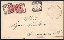 ITALY ITALIA ITALIEN 1908. Postal History Envelope Use By The Municipality Of CINGOLI - Italia