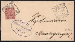 ITALY ITALIA ITALIEN 1904. Postal History Envelope Use By The Municipality Of FABRIANO MONTEGIORGIO - Italia