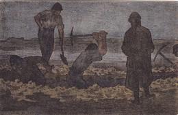 LE TRAVAIL De NON,,,,DES MILITAIRES  FAISANT Une TRANCHEE  SEMBLENT SURVEILLES  Par Un GARDIEN,,,,, VOYAGE 1918,, _ - Guerre 1914-18