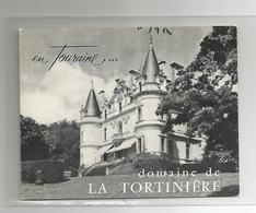 Pub Publicité Carte De Visite Domaine De La Tortinière Hotel Résidence Montbazon 37 Indre Et Loire 8,8x11,2 Cm - Cartes De Visite