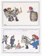 2 Cartes Postales Illustrateur Bertiglia - Bertiglia, A.