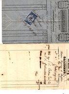 2 FACTURES Du Drapier HERCULE TOURNAL à Rodez & Du Bottier GALIBERT à PARIS émises En 1846& 1872 - Textile & Vestimentaire