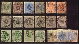 Belgique Lot Lion Couché Timbres Oblitérés - 1869-1888 Lion Couché (Liegender Löwe)