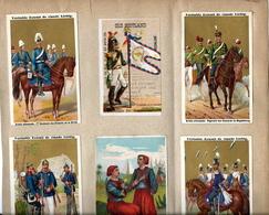 Lot 146- 6 Liebig Chromo's - Duits Leger - Armée Allemande - Anno 1885 - Liebig