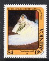 DOMINICA - 1982 DIANA BIRTHDAY $4 STAMP FINE MNH ** SG823 - Dominica (1978-...)