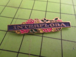 710c Pin's Pins / Beau Et Rare / THEME MARQUES : INTERFLORA BOUQUET DE FLEURS - Trademarks