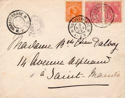 9 NOV 99 Envelop 's-Gravenhage  Naar St. Mande Met Mengfrankering NVPH 34 En Paar NVPH60 - Briefe U. Dokumente