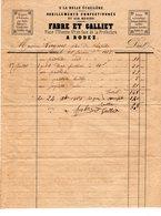 2 FACTURES Du Tailleur FABRE & GALLIET à Rodez & Du Tailleur LAGARRIGUE à PARIS émises En 1846 & 1868 - Textile & Clothing