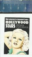 HOLLYWOOD STARS N° 3 -  JEAN HARLOW - THE CORNISH MATCH C° - MADE IN FINLAND Matchbox Label - Boites D'allumettes - Etiquettes