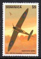 DOMINICA - 1993 SUPERMARINE SPITFIRE AIRCRAFT $5 STAMP FINE MNH ** SG1728 - Dominica (1978-...)