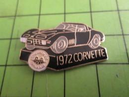 716a Pin's Pins / Beau Et Rare / THEME AUTOMOBILES : CORVETTE NOIRE DE 1972 - Corvette