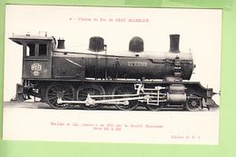 Chemin De Fer De L' ETAT ALGERIEN - Machine N° 221 Construite En 1911 Par Sté Alsacienne- TBE - Edition D.F.I. - 2 Scans - Equipment