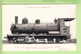 Chemin De Fer De SFAX GAFZA - Machine  N° 25 Construite En 1904 Par Sté Alsacienne - TBE - Edit. D.F.I. - 2 Scans - Equipment
