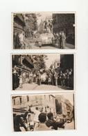 3 PHOTOS ORIGINALES FEMME TONDUE CROIX GAMMÉE SUR FRONT VUE PROFIL PORTÉE PAR HOMMES,CHAR G 29 DARDANELLES,PARIS (75).. - Photos