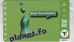 Faroe Islands, OR-003, 50 Kr ,  Planet.fo, Kool Fartelefon, Mint In Blister, 2 Scans. - Faroe Islands