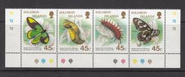 1987 Solomon Islands Queen Victoria's Birdwing Butterfly Strip Of 4 MNH - Salomoninseln (Salomonen 1978-...)