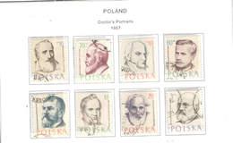 Polonia PO 1957 Ritratti Dottori Scott.769/776+See Scan On Scott.Page; - 1944-.... República