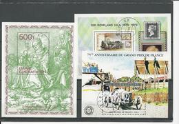 CENTRAFRIQUE  Scott 309, 402, 475 Yvert BF36, BF39, BF48 O (3 Blocs) Cote 9,50 $ 1979-81 - Centrafricaine (République)