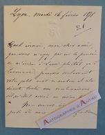 L.A.S 1875 - Baron De BROSSE - Lyon - Lavarenne - Forez - Saint Etienne - Lettre Autographe LAS Noblesse Aristocratie - Autógrafos
