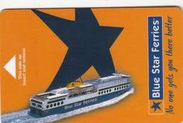GREECE Cabin Keycard - Blue Star Ferries (Brown Strip On The Back) ,used - Hotelkarten