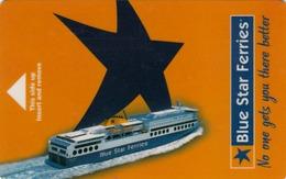 GREECE Cabin Keycard - Blue Star Ferries (Black Strip On The Back) ,used - Hotelkarten